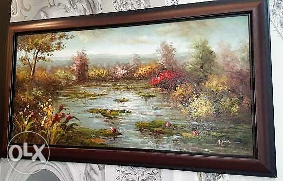 Canadian Furniture - Large Oil Canvas
