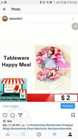 Tableware Happy Meal