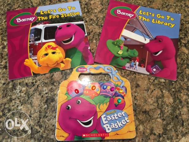 3 Barney books English
