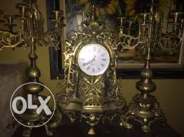antique watches and chandelier