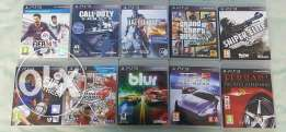 10 PS3 games for sale.