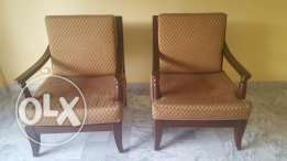 2 saloon wooden chairs