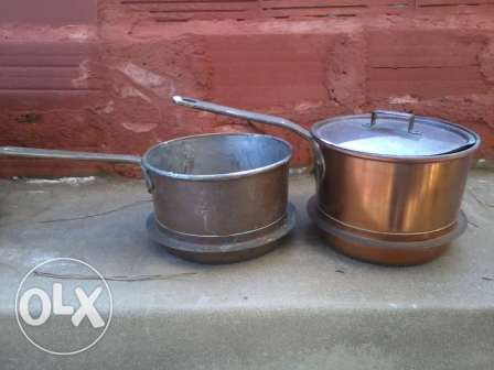Antique cassroles, heavy copper, 80-100 years, each 25$