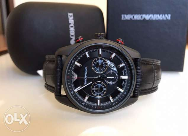 Genuine hot black leather Emporio newest edition