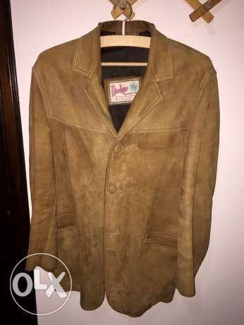 Chamois leather jacket for men