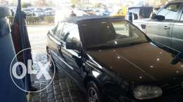 Golf cabriolet black