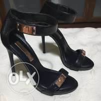 BCBG black high sandals!