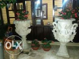 5 vases, hand made, imported from italy, high quality