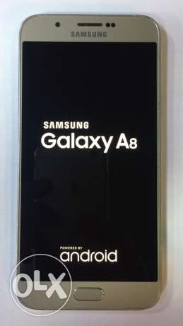 samsung A8 gold 4G like new برج ابي حيدر -  3