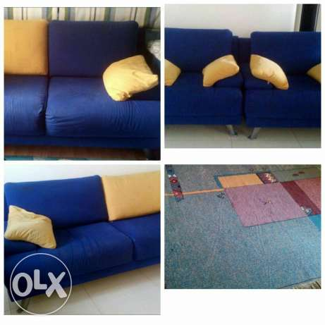 mobilitop salon blue and yellow and carpet 3 b 2 meter
