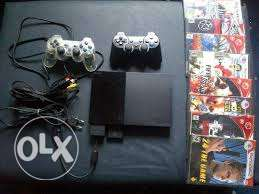 Ps2 with 2 controles + 10 games