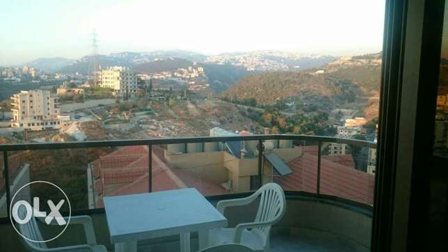 Aoukar, Furnished appartment in Awkar with sea and mountain view المتن -  5