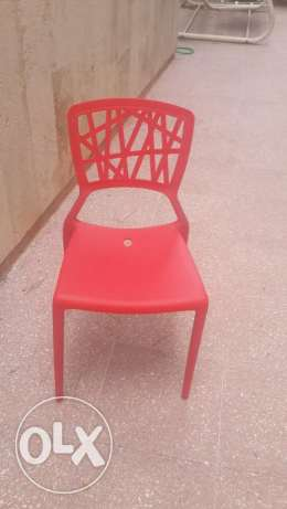 12 Red chairs For restaurant or outdoor