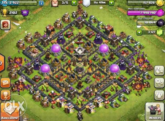 Clash of clan level 11 for sale