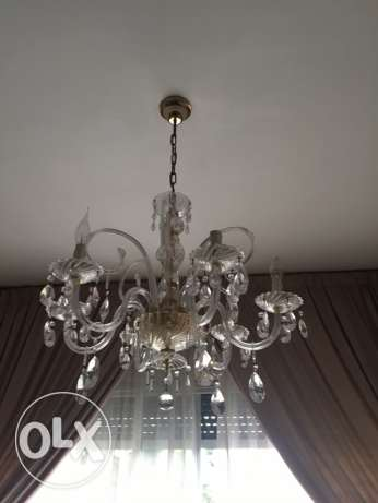 3 chandeliers crystal