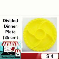 Divided Dinner Plate Yellow