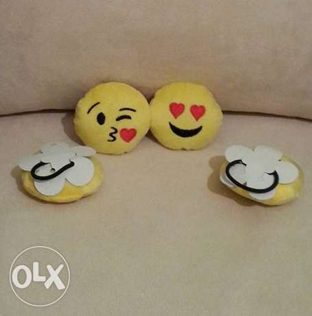 Emoji Hair Rubber Band المرفأ -  2