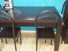 Malaysian wood table + 6 chairs for sale