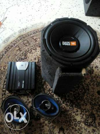 subwoofer amplifier speakers (zamour khatar wirless bou2en antein )