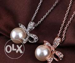 Gold Plated Pearl Pendant Necklaces