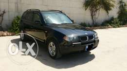 BMW X3 2004 motor 3.0 black very clean (قابل للمقايضة)