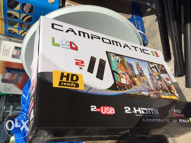 tv led 32 inch campomatic with one year warranty ( new in box)
