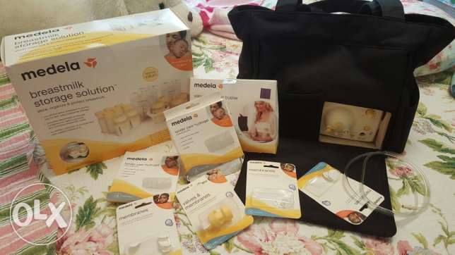 Medela electric double pump, Storage Solutions & Bra for easy express كسروان -  2