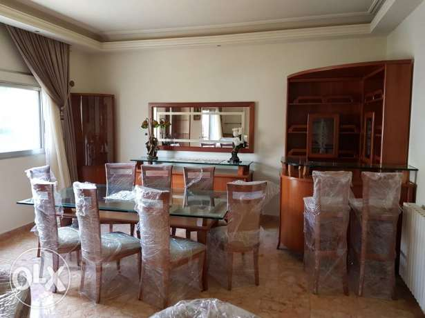Mansourieh main road, For Rent 3 bed rooms apartment furnished
