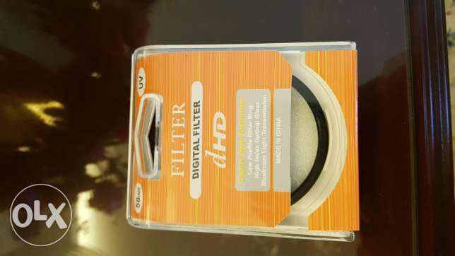 UV filter 58 mm diameter for all DSLRs