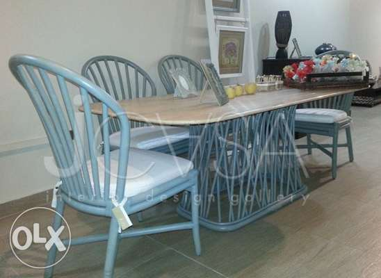 New Bamboo Dining table with 4 chairs