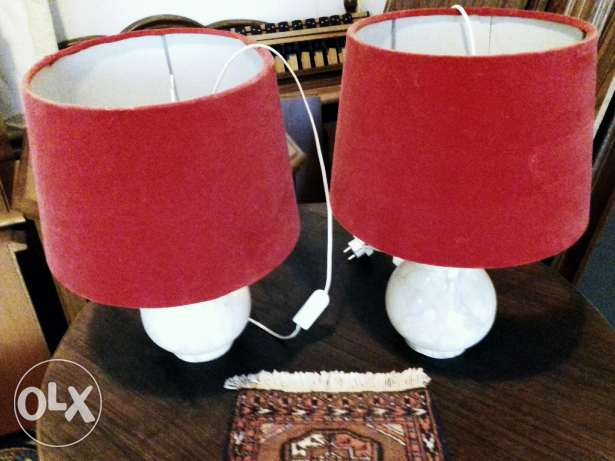 Pair of heavy onyx side lights