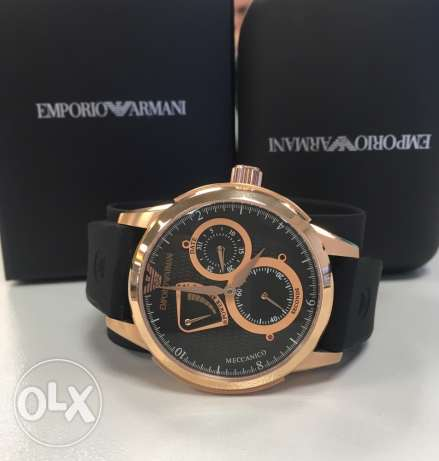 Original Armani swiss meccanico black and gold
