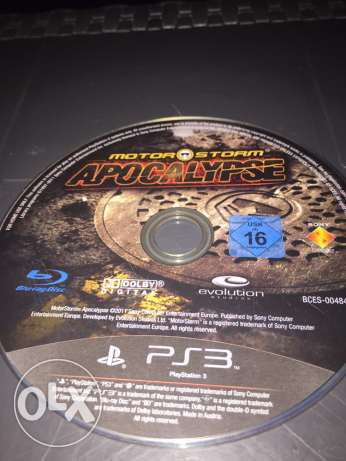 motor storm apocalypse CD for PS3