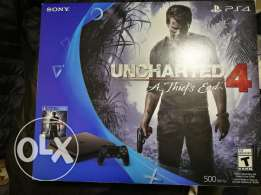Sony ps4 slim 500gb from canada still new + uncharted 4 game