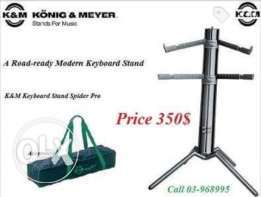 Korg spider pro stand professional stand with bag.