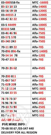 Mtc and alfa line for sale