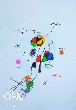 Miro Abstract Art - Oil Painting - Huile sur toile - لوحات زيت