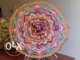 hand made yarn mandalas