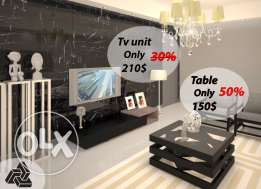 table+tv unit only 360$