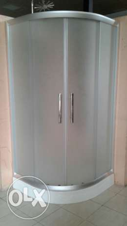 Showe glass sister 90*90 with chrome handles