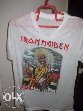 iron maiden shirt - for sale - size small- white