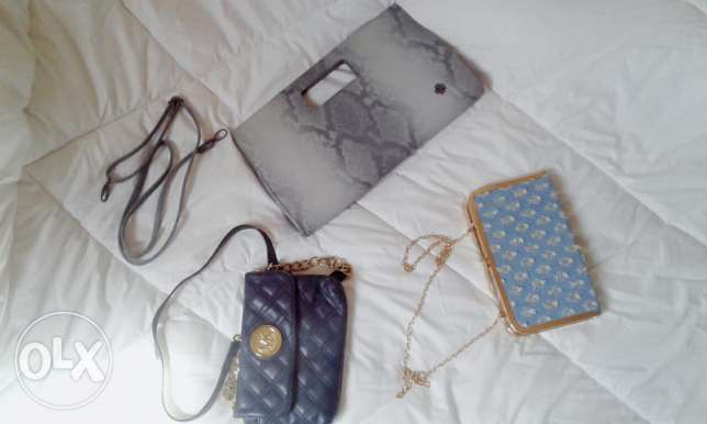 3 new hand bags from Doca/MK/ and one from Africa