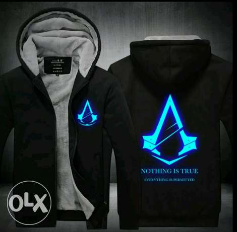 Winter Luminous pattern AssassinsCreed Hoodie Zipper Sweatshirt hoodie