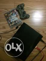 pS3 playstation3 in a very good condition with 7 games including GTA5