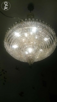 CrChandeliers 13 lamp covered with gold water age over 30 still as new