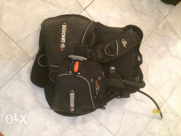 Full diving gear in excellent condition, without air tank