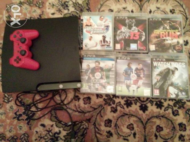 Ps3 excellent condition with 6 cds and controller and usb cable
