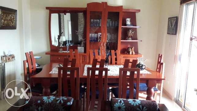 Appealing Dining Table 8 chairs With Dresser