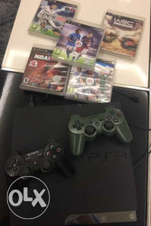 play station 3 500 gb + 5 games