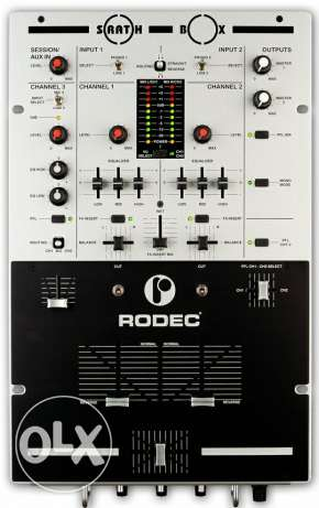 Professional 2+1 channel dj mixer Rodec made in europe